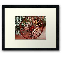 Wagon Wheel - Antique Fire Wagon Framed Print