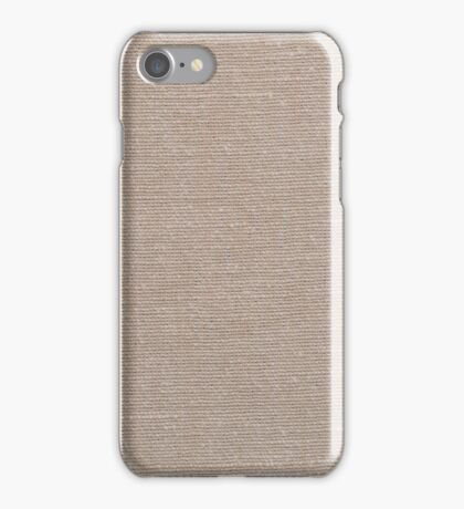 Brown fabric texture iPhone Case/Skin