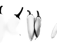 THEY DON'T LOOK LIKE PEPPERS!!! Food in B&W  by Be Eca