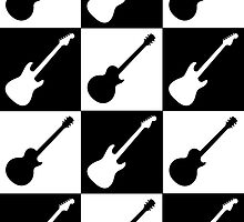 Electric Guitar Checkerboard by Roz Abellera