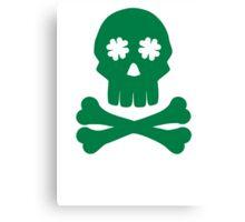 Irish shamrock skull bones Canvas Print