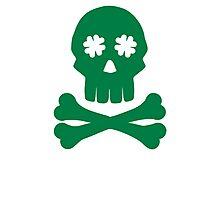 Irish shamrock skull bones Photographic Print