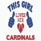 This Girl Loves Her Cardinals! - CAR STICKER! by ckim8888