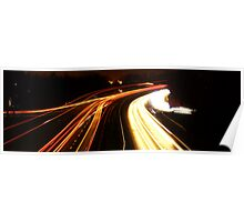 Dual light trails Poster