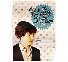 Sherlock Themed Valentine's Day Cards - 3 Patch Problem Poster