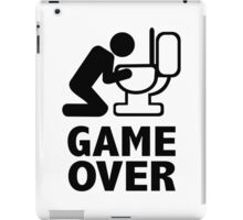 Game over puke toilet iPad Case/Skin