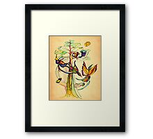 Birds Gossip  Framed Print