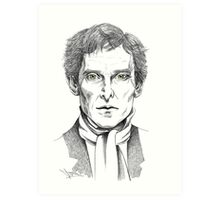 Portrait of Jeremy Brett  Art Print