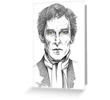 Portrait of Jeremy Brett  Greeting Card