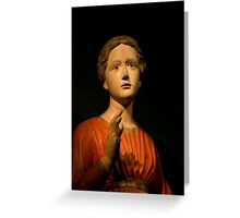 The Annunciation by Francesco di Valdambrino Greeting Card