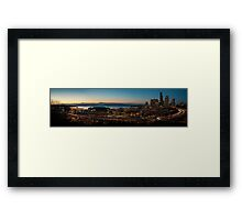 Seattle South Sunset Panorama Framed Print