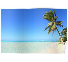 Remote Island Paradise - Palm Tree Poster