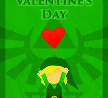 Legend of Zelda Valentines Day Card by Nicole Hass