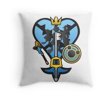 (Kingdom Hearts) All for One and One for All Throw Pillow