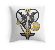 (Kingdom Hearts) All for One and One for All Silver/Gold Throw Pillow