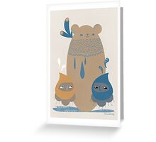 Bear Statue Greeting Card