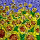 Field of Sunflowers by Kristi Nobers