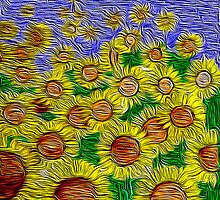 Field of Sunflowers by Kristi Nobers