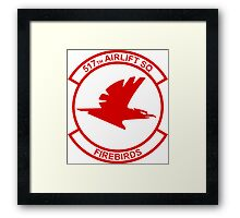 517th Airlift Squadron - Firebirds Framed Print