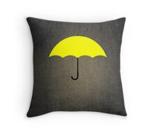 You are my Yellow Umbrella Throw Pillow