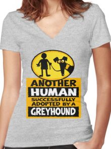 Another Human Women's Fitted V-Neck T-Shirt