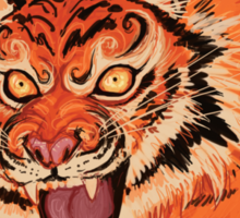 Beautiful Tiger Ferocity  Sticker