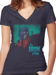 The Iron Prime Women's Fitted V-Neck T-Shirt