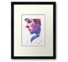Sherlock: Watercolor Framed Print