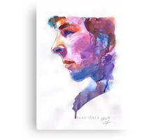 Sherlock: Watercolor Canvas Print
