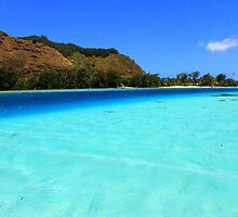 Moorea Island - Colourful Blues by Honor Kyne