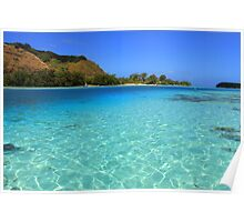 Moorea Island - Coral Reef and Reef Sharks Poster