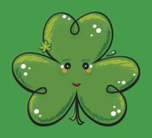 Lucky Cute Clover Kawaii #03 Kids Tee