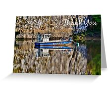 Boat - Thank You Card Greeting Card