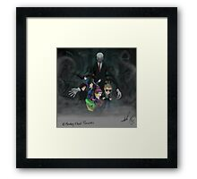 He's totally not standing behind you...  Framed Print