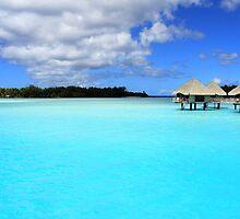 Blue Blue - Bora Bora  by Honor Kyne