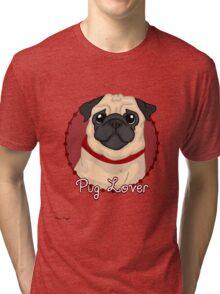 Pug Lover Tri-blend T-Shirt