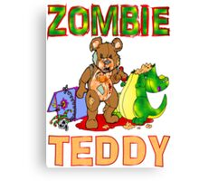 Zombie Teddy Canvas Print