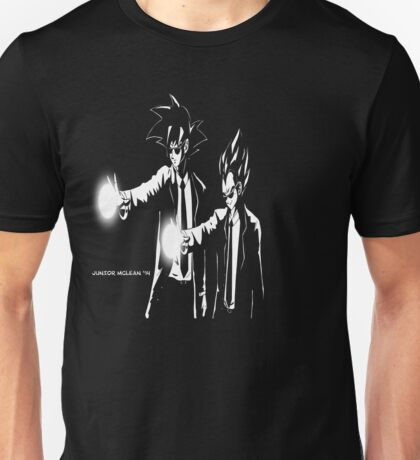 Gokou and Vegeta Pulp Fiction Style Unisex T-Shirt