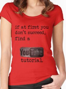 You Tube Tutorial Women's Fitted Scoop T-Shirt