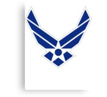 Air Force Insignia - Blue Canvas Print