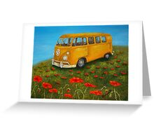 Vintage VW Bus Greeting Card