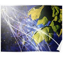 Leaves Dancing in the Magic of Night Poster