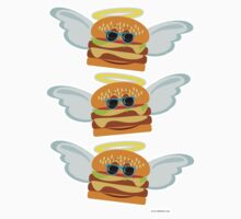 Three Flying Cheeseburgers by mytshirtfort