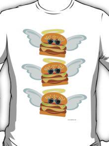 Three Flying Cheeseburgers T-Shirt