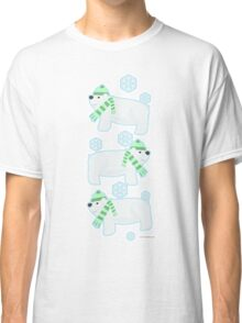 Three Cute Polar Bears Classic T-Shirt