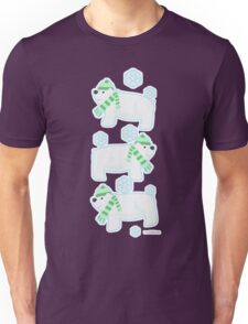 Three Cute Polar Bears Unisex T-Shirt