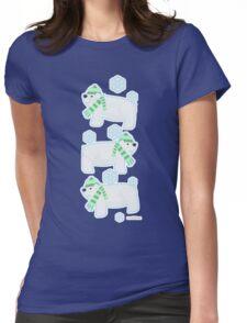 Three Cute Polar Bears Womens Fitted T-Shirt