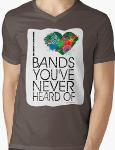 I Love Obscure Bands Mens V-Neck T-Shirt