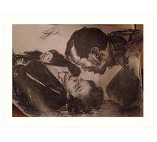 Sherlock and Moriarty - Mind Palace Asylum Art Print