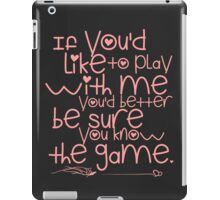 Play Time Ahri Quote iPad Case/Skin